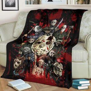 Horror Characters Jason Voorhees Quilt Blanket, Fleece Blanket Printer In US