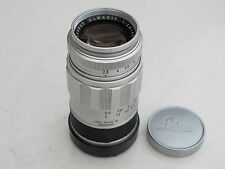 "Leica M 90mm f:2.8 Elmarit lens with caps in silver chrome finish MINTY ""LQQK"""