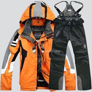 Men's Winter Waterproof Outdoor Coat + Pants Ski Suit Jacket snowboard Clothing