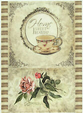 Rice Paper for Decoupage, Scrapbooking Sheet Home Sweet Home Rose