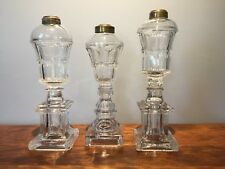 EAPG: Whale Bigler Fluid Oil Lamps: Lot of 3