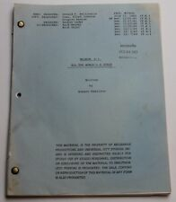 Magnum, P.I. * 1983 Original TV Show Script *rare episode with Great Gatsby Gala