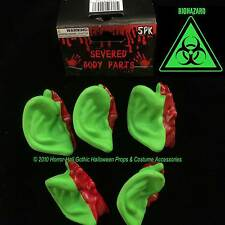 Toxic Zombie Leprechaun GREEN SEVERED EARS Body Parts Mad Scientist Lab Prop-5pc