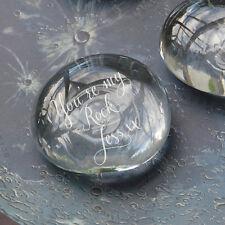 VETRO personalizzato Pebble, Pietra Vetro Inciso, ornamento di vetro (ohso 7187-LR)