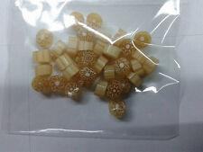 10 grammi murrine in foto di murano glass millefiori  beige misura 6-7 mm