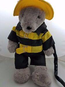 Dan Dee Schmeichelnd Weich Me Teddybär Feuerwehrmann Outfit Mode Kleidung Dandee