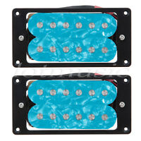 Blue Pearl Electric Guitar Humbucker Double Coil Pickup Set Neck Bridge Pickup