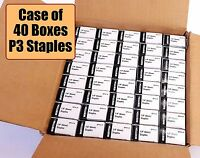 "Case of 40 Box Bostitch P3 Staples for P3 Bostitich Stapler 1/4"" **Free Shipping"