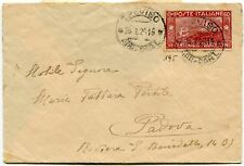 1926 San Francesco 60 cent. isolato su busta dest. Padova
