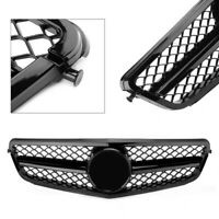 Gloss Black Grill fit For Benz W204 C300 C350 C-Class 2008-2014 C63 AMG Style