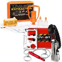 LIVABIT Emergency SOS Survival Tool Kit & Venom Extractor Pump Snake Bite Sting