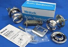 WESLOCK - Polished Chrome Bath / Bedroom Privacy Door Knob Set - 610 GAL 26 x 26