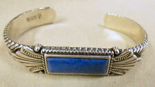 Sterling Silver and Denim Lapis Carolyn Pollack Cuff Bracelet