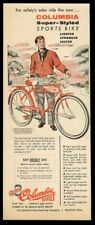 1955 Columbia 500M Super Styled Sports Bike bicycle vintage print ad