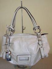 Moderne Damen Coccinelle Handtasche gross Leder weiß