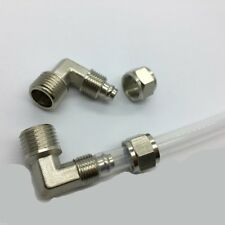 """Pneumatic Quick Connector Fitting Pipe 1/8 NPT to 1/4 ID 5/16"""" OD Tube 90 D JEF"""