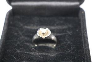 585.Weißgold Damen Ring mit Diamant 0,10 ct