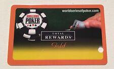 WSOP WORLD SERIES OF POKER REWARDS GOLD PLAYERS SLOT CARD LAS VEGAS NO NAME