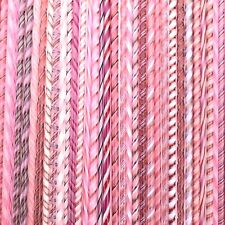 FIVE Twisties - Pinks - Fusible COE 90 Bullseye Compatible Twisted Glass Canes