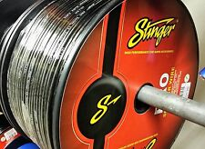 100 Foot Cut Stinger Pro Series 12 Gauge AWG Black Copper Speaker Wire SPW512BK