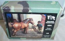 VERLINDEN 1:35 FARMER WITH DRAFT HORSE RESIN FIGURE SET 1224 NIB