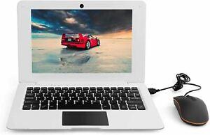 Portable Windows 10 Computer Laptop Mini 10.1 Inch 32GB Ultra Thin (White)