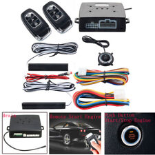 PKE Passive Keyless Entry Push Button Remote Engine Start/Stop  Alarm System Kit