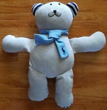 Ralph Lauren Polo Grey/Blue Baby Boy 16 Inch Plush Bear w/Scarf Great Condition