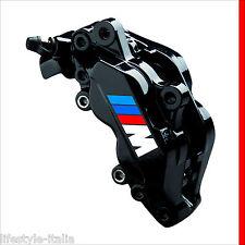 SONDERPREIS Bremssattel Aufkleber für BMW 2x M Logo in WEISS je 64x20mm
