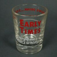Vintage EARLY TIMES Every Ounce A Man's Whisky 2 oz Jigger Shot Glass NOS NEW