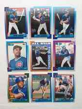 1990 Topps Cubs master team set with traded NM-MT to Mint razor sharp