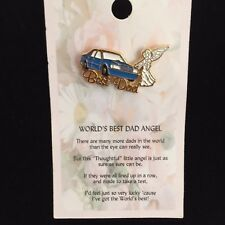 GUARDIAN ANGEL PIN FOR WORLD'S BEST DAD WITH A THOUGHTFUL MESSAGE FOR DAD