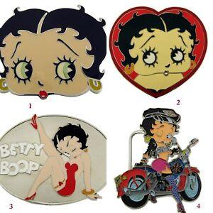 Betty Boop Belt Buckles Character Silver Halloween Costume Women Ladies Original