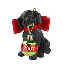 "Puppy Love ""Black Lab"" Carlton Cards 2007 ornament"