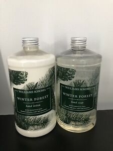 Williams Sonoma Winter Forest Hand Soap & Lotion Set - 16oz each NO PUMPS REFILL