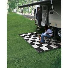 Reversible Plastic RV Mat Outdoor Camping Carpet Rug 6'x9' Various Designs NEW