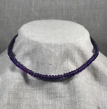 Beautiful amethyst rondelle necklace with 18K gold beads and 24k S-clap