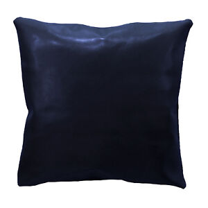 pe249a Deep Blue Faux Leather Classic Pattern Cushion Cover/Pillow Case Custom