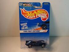 "Hot Wheels Blue Jaguar D-Type ""1998 1st Ed."" w/ 5 spoke wheels PKG# 638 MIP"