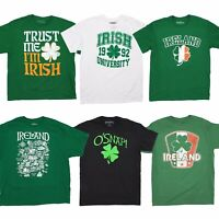 St. Patrick's Day Irish T-Shirt for Men Party Ireland Shamrock Tee Fifth Sun