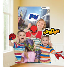 Spiderman Superhero Birthday Party Selfie Photo Props Set