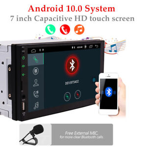 """7"""" Android10 1080P Car Stereo GPS Nav MP5 Player 2Din Quad Core Radio WIFI FM"""