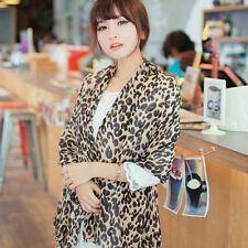 Long Style Stylish Silk Chiffon Georgette Leopard Scarf Wrap Scarves Shawl