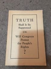 1934 Truth Suppressed? Brochure Jehovah's Witnesses Watchtower Rutherford