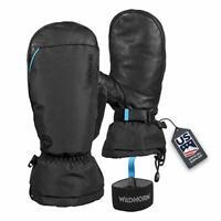 Wildhorn Unisex Waterproof Leather Ski Mittens Touchscreen Compatible - Stealth