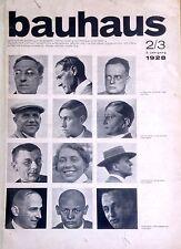 Original DESSAU BAUHAUS MAGAZINE Issue 2/3 1928 Wassily Kandinsky Schmidt Stam