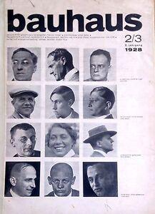 Original DESSAU BAUHAUS MAGAZINE 2/3 1928 Wassily Kandinsky Schmidt Stam Albers