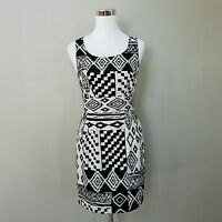 Love 21 Black & White Sleeveless Aztec Print Dress Size XS