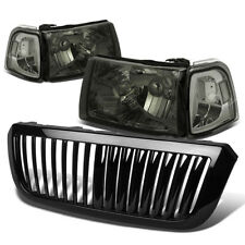 FOR 04-05 FORD RANGER SMOKED HEADLIGHT+CLEAR CORNER LIGHT+GRILLE GUARD COVER