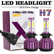 2X H7 LED Headlight Kit 48000LM High or Low Beam Bulbs 6000K Bright VS Xenon HID